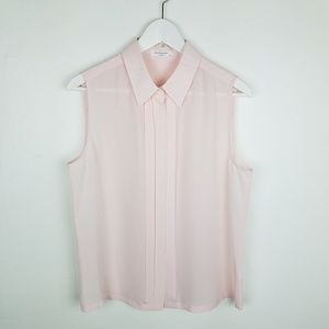 Equipment 100%Silk Blush Sleeveless Blouse